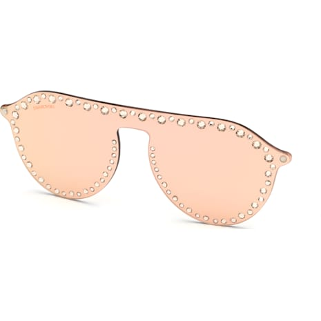 Swarovski Click-on Mask for Sunglasses, SK5329-CL 32G, Rose - Swarovski, 5483812