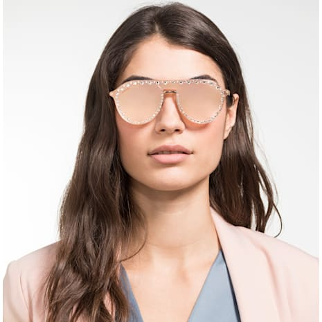 Masque à cliper pour lunettes de soleil Swarovski, SK5329-CL 32G, Rose - Swarovski, 5483812