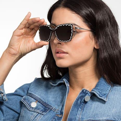 Swarovski Click-on Mask for Sunglasses, SK5330-CL 16A, Grey - Swarovski, 5483813