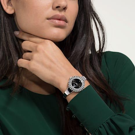 Montre Crystal Rose, Bracelet en métal, noir, acier inoxydable - Swarovski, 5484076