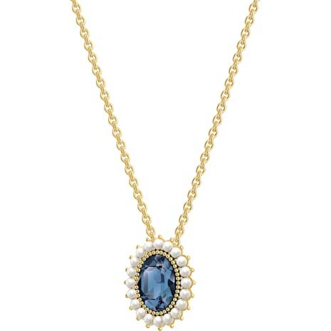 Millennium Necklace, Blue, Gold-tone plated - Swarovski, 5484171
