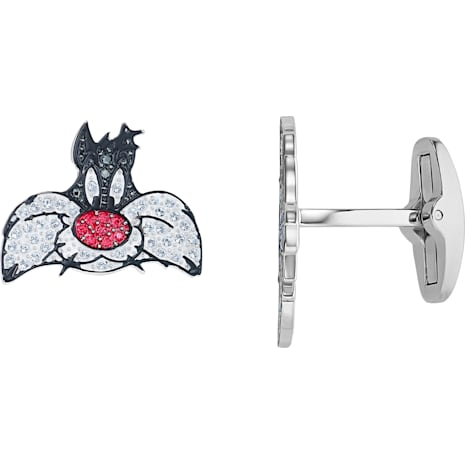 Looney Tunes Sylvester Cuff Links, Multi-colored, Rhodium plated - Swarovski, 5484687