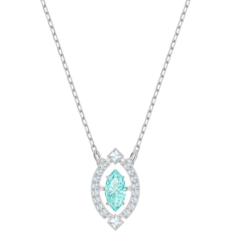 Swarovski Sparkling Dance Necklace, Green, Rhodium plated - Swarovski, 5485721