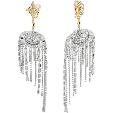 Celestial Fit Pierced Earrings, Multi-colored, Mixed metal finish - Swarovski, 5486026
