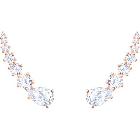Orecchini Penélope Cruz Moonsun, bianco, Placcato oro rosa - Swarovski, 5486352
