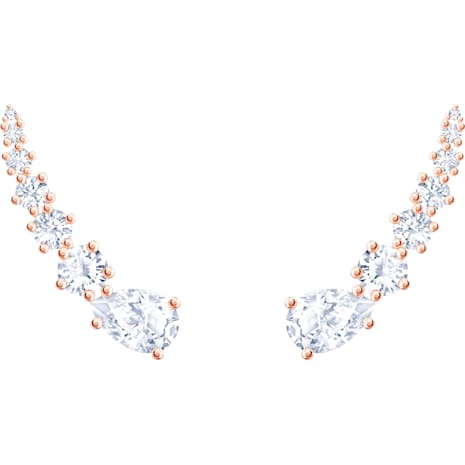 Penélope Cruz Moonsun Ohrringe, weiss, Rosé vergoldet - Swarovski, 5486352