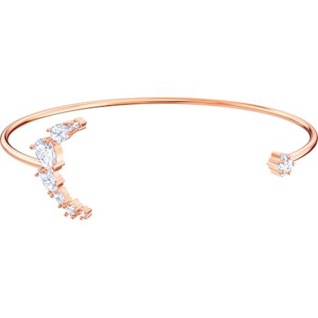 Bracciale rigido Penélope Cruz Moonsun, bianco, Placcato oro rosa - Swarovski, 5486353