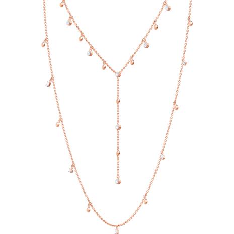 Penélope Cruz Moonsun Necklace, White, Rose-gold tone plated - Swarovski, 5486650