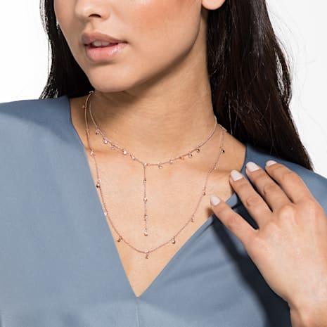 Collar Penélope Cruz Moonsun, blanco, Baño en tono Oro Rosa - Swarovski, 5486650
