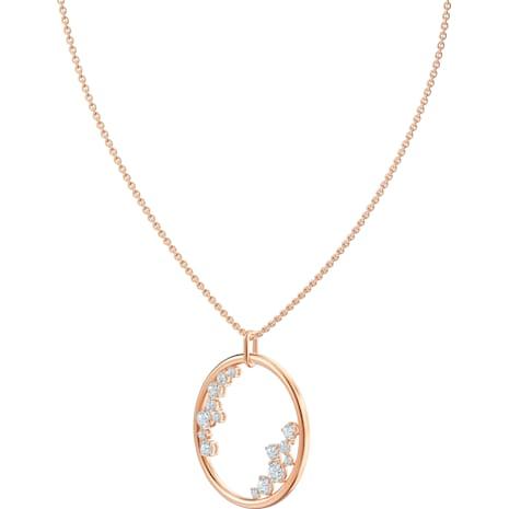 Pendentif North, blanc, Métal doré rose - Swarovski, 5487069