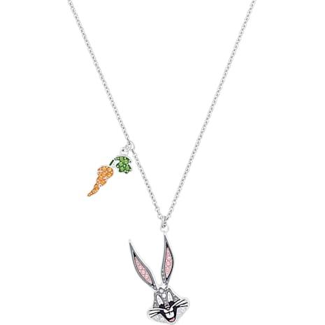 Looney Tunes 賓尼兔 鏈墜, 多色設計, 鍍白金色 - Swarovski, 5487626