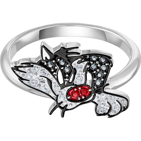 Looney Tunes 阿寶 圖形戒指, 多色設計, 鍍白金色 - Swarovski, 5487638