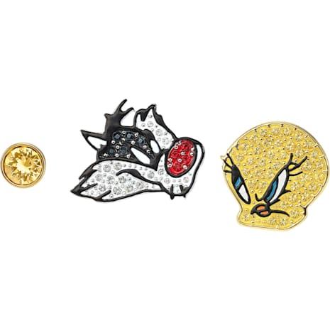 Boucles d'oreilles Looney Tunes, multicolore, Finition mix de métal - Swarovski, 5487639