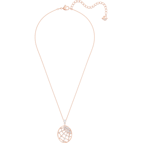 Pendentif Precisely, blanc, Métal doré rose - Swarovski, 5488405