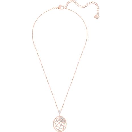 Precisely Pendant, White, Rose-gold tone plated - Swarovski, 5488405