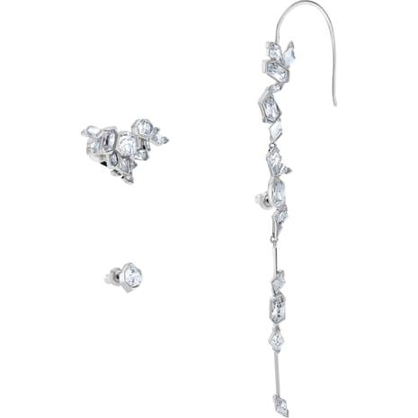 Ice Crack Ear Cuff, weiss, Rutheniert - Swarovski, 5489075