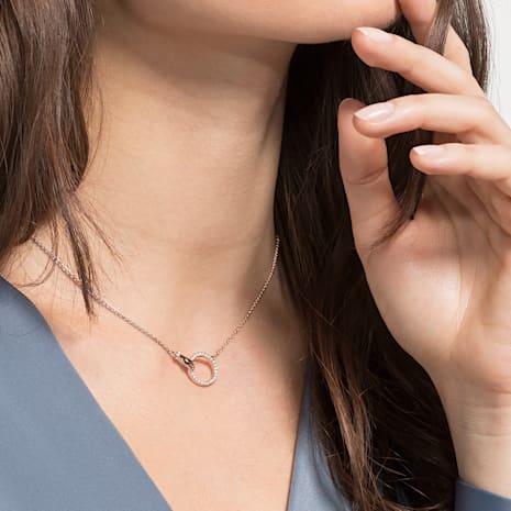 Swarovski Symbolic 項鏈, 白色, 鍍玫瑰金色調 - Swarovski, 5489573