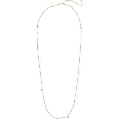 Sautoir Penélope Cruz Moonsun, Édition Limitée, blanc, Métal doré rose - Swarovski, 5489762