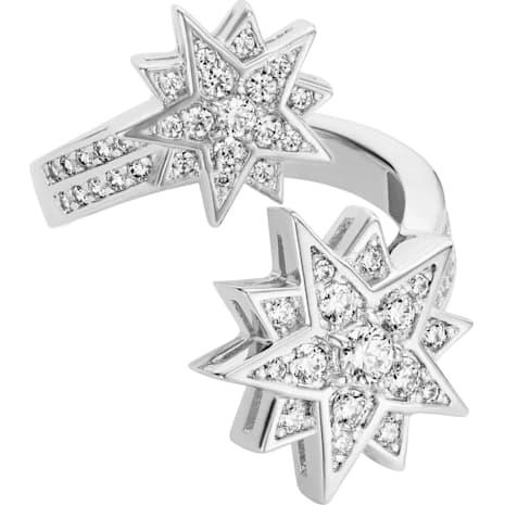 Penélope Cruz Moonsun Ring, Limited Edition, White, Rhodium plated - Swarovski, 5489772