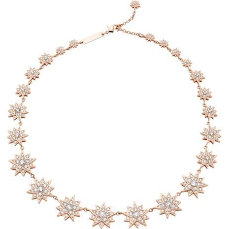 Collier Penélope Cruz Moonsun, Édition Limitée, blanc, Métal doré rose - Swarovski, 5489773