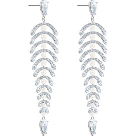 Pendientes chandelier Polar Bestiary, blanco, Baño de Rodio - Swarovski, 5489887