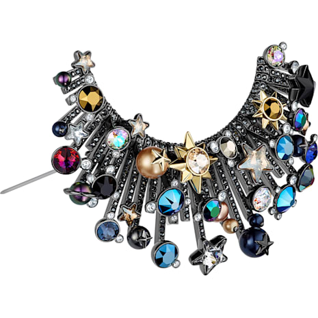 Nocturnal Sky Brooch, Multi-coloured, Mixed metal finish - Swarovski, 5490236