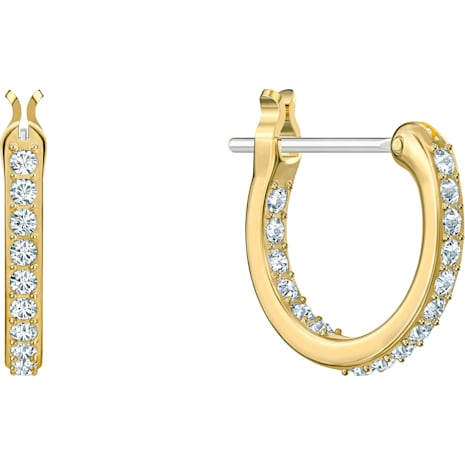 Tarot Magic Hoop Pierced Earrings, Blue, Gold-tone plated - Swarovski, 5490910