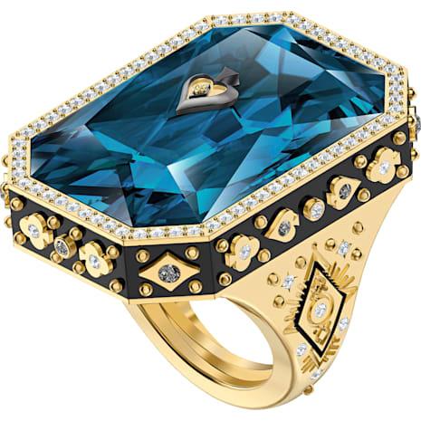 Anillo de cóctel Tarot Magic, azul, Baño en tono Oro - Swarovski, 5490913