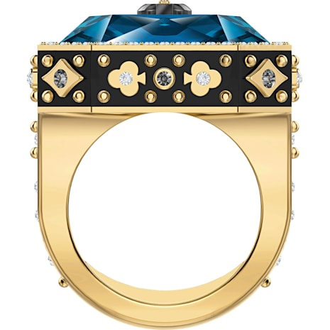 Tarot Magic Cocktail Ring, blau, Vergoldet - Swarovski, 5490913