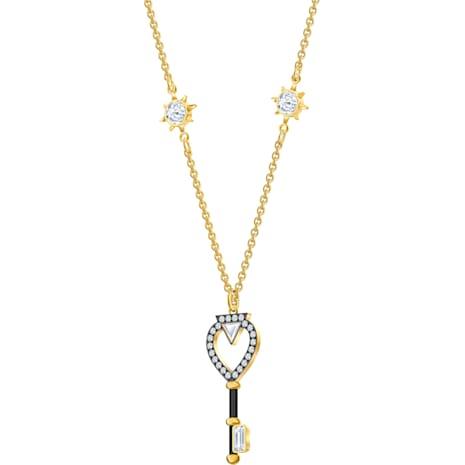 Collana Tarot Magic, bianco, Placcato oro - Swarovski, 5490917