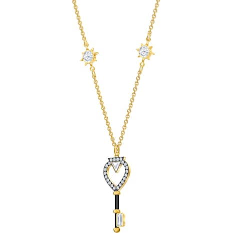 Collier Tarot Magic, blanc, Métal doré - Swarovski, 5490917