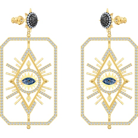 Pendientes Tarot Magic, multicolor, Baño en tono Oro - Swarovski, 5490920