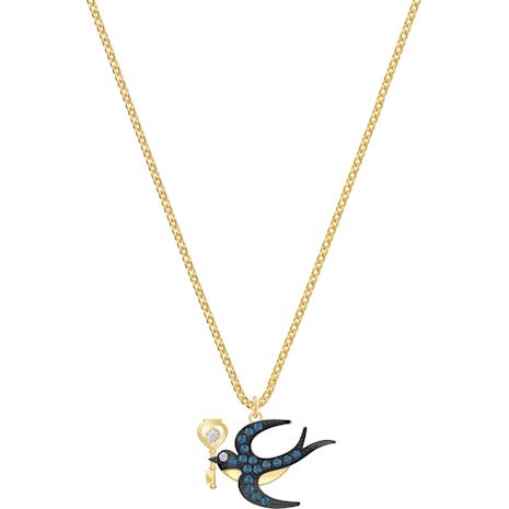 Collier Tarot Magic, bleu, Métal doré - Swarovski, 5490922