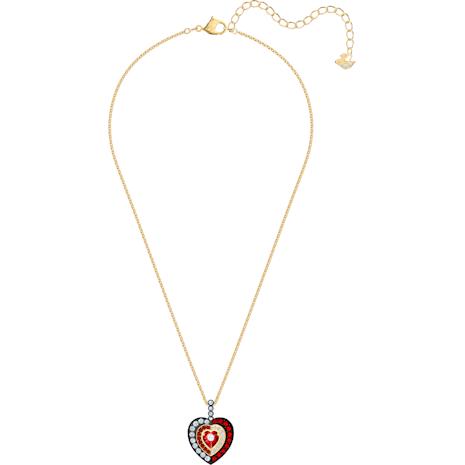 Black Baroque Pendant, Red, Gold-tone plated - Swarovski, 5490980