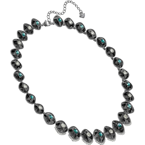 incredible prices the latest customers first Black Baroque Necklace, Multi-coloured, Ruthenium plated