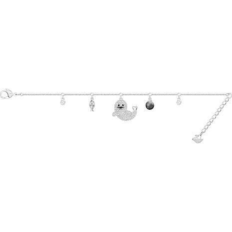 Pulsera Polar, multicolor, Baño de Rodio - Swarovski, 5491553