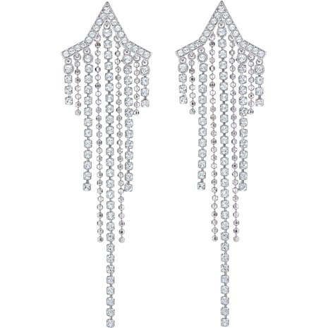 Boucles d'oreilles Tassell Fit Star, blanc, Métal rhodié - Swarovski, 5492758