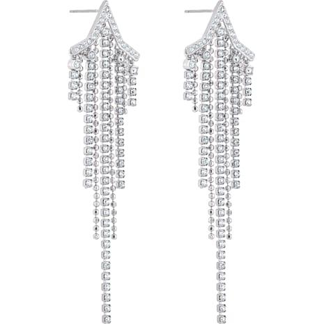 Pendientes Tassell Fit Star, blanco, Baño de Rodio - Swarovski, 5492758