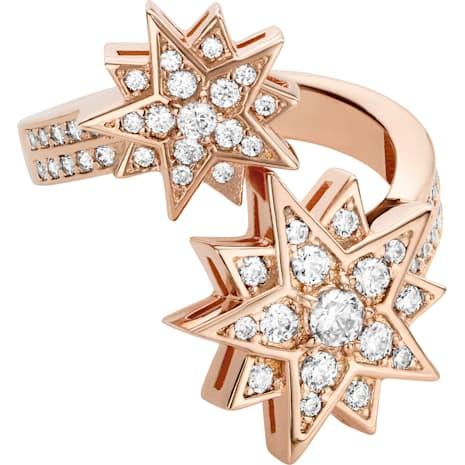 Penélope Cruz Moonsun 戒指, 限量發行產品, 白色, 鍍玫瑰金色調 - Swarovski, 5493037
