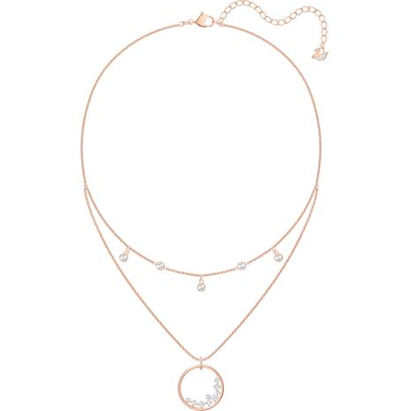 Collana North, bianco, Placcato oro rosa - Swarovski, 5493390
