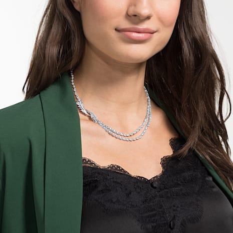 Nice Necklace, White, Rhodium plated - Swarovski, 5493404