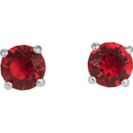Boucles d'oreilles clous Attract, rouge, Métal rhodié - Swarovski, 5493979