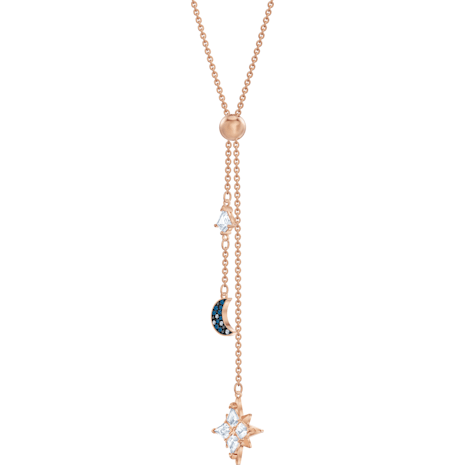 Swarovski Symbolic Y Necklace, Multi-coloured, Rose-gold tone plated - Swarovski, 5494357