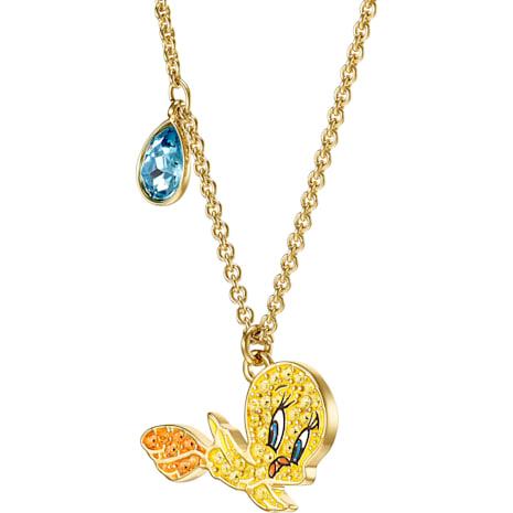 Looney Tunes 翠兒 鏈墜, 多色設計, 鍍金色色調 - Swarovski, 5494374