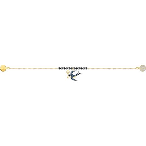 Swarovski Remix Collection Swallow Strand, 멀티컬러, 골드 톤 플래팅 - Swarovski, 5494381