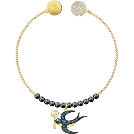 Swarovski Remix Collection Swallow Strand, multicolor, Baño en tono Oro - Swarovski, 5494381