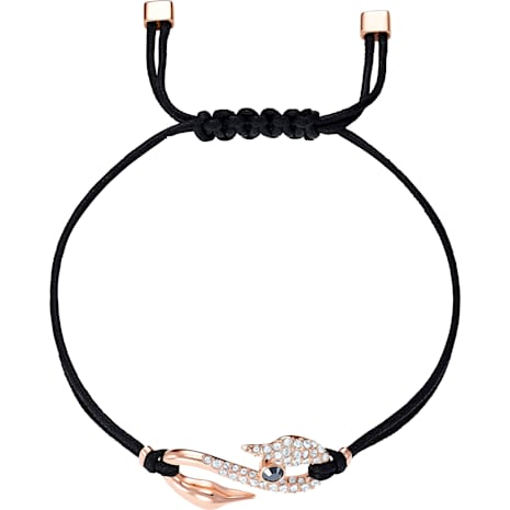 Swarovski Power Collection Hook Bracelet, Black, Rose-gold tone plated - Swarovski, 5494383