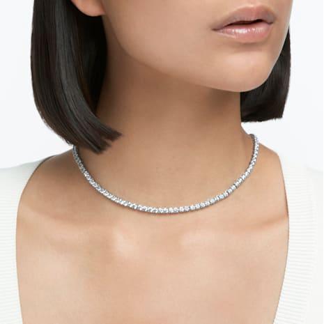 Collana Tennis Deluxe, bianco, Placcatura rodio - Swarovski, 5494605