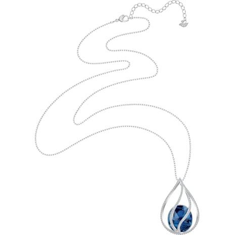 Collana Energic, azzurro, Placcatura rodio - Swarovski, 5494874
