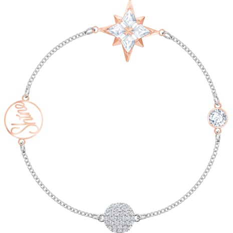 Swarovski Remix Collection Star Strand, 멀티컬러, 믹스메탈 피니시 - Swarovski, 5494886